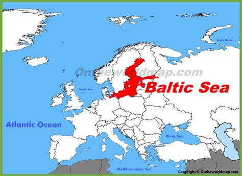 on the map baltic sea location on the europe map