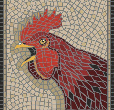mosaic rooster pattern mosaic tile patterns for kids great activity to boost