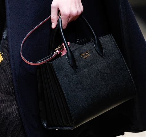 20 4 New Prada Bibliotheque Textured Tote Bag Like Ori Taiga Leather prada launched two big new bags on its fall 2016 runway