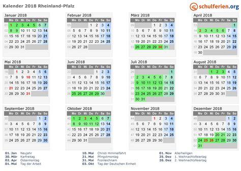 Kalender 2018 Mit Feiertagen Rheinland Pfalz Kalender 2018 Ferien Rheinland Pfalz Feiertage
