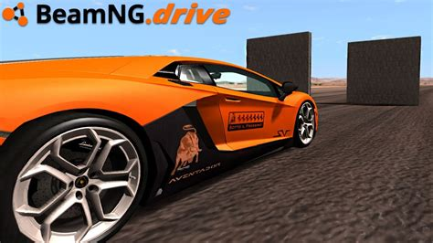 Lamborghini Youtube Crash by Beamng Drive Lamborghini Crash Youtube