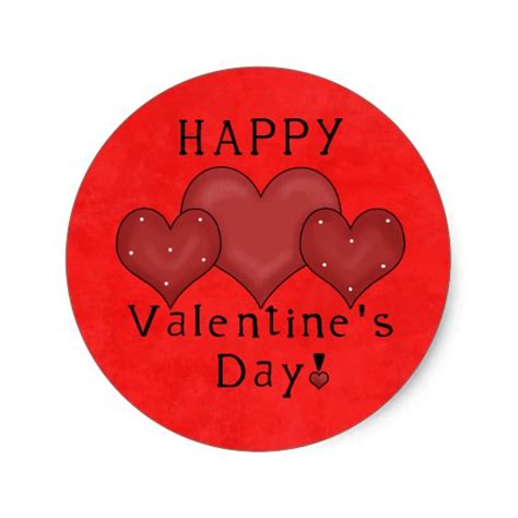 valentines day stickers happy valentines day sticker zazzle