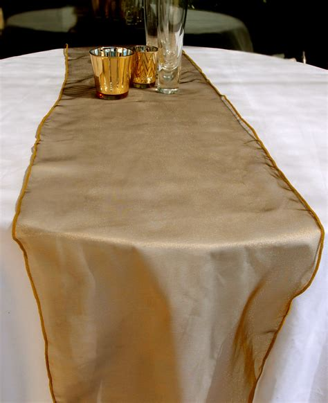 Table Runner by Organza Table Runner Gold