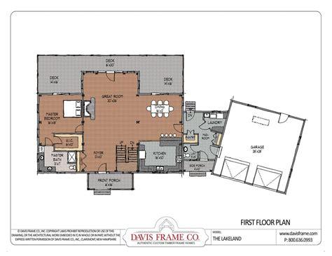 cross gable open concept floor plan house plans