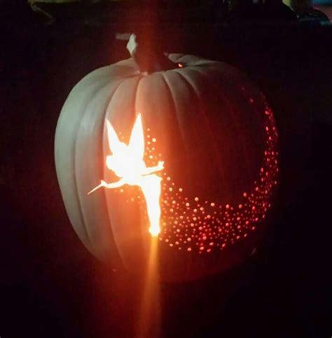 tinkerbell pumpkin carving halloween ideas pinterest