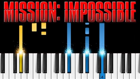 tutorial piano mission impossible mission impossible theme easy piano tutorial chords