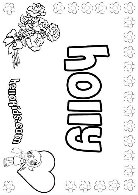 holly coloring pages hellokids com