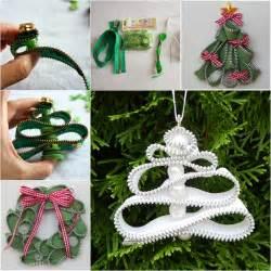 wonderful diy zipper christmas tree ornaments