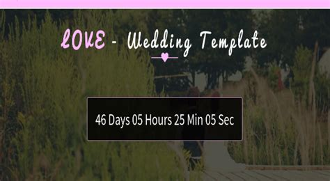 bootstrap templates for wedding wedding bootstrap template love free template