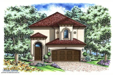 mediteranean house plans mediterranean house plan narrow lot 2