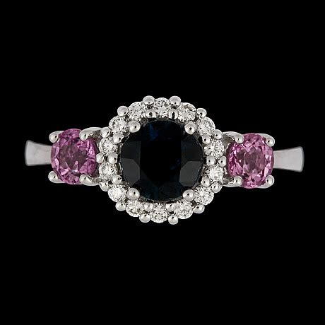 Pink Sapphire 2 25 Cts a pink and blue sapphire tot 2 cts and ring
