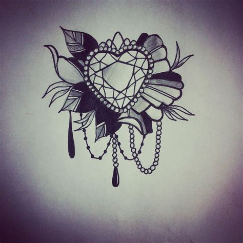 jewel tattoo designs flower bead design my work