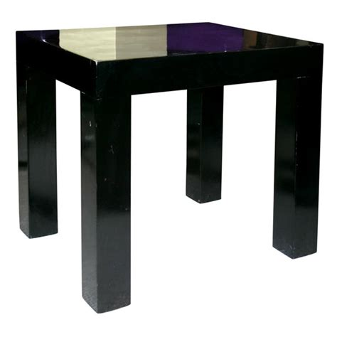 black lacquer end table pair of black lacquer side tables at 1stdibs