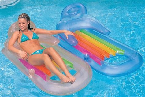 luchtbed self inflatable intex king kool inflatable lounge review