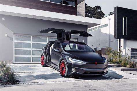 B 0012 Wheels Tesla Model X custom satin black tesla model x with mx114 22 inch forged wheels in imperial by t sportline
