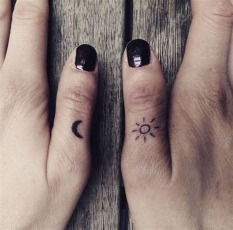 tattoo finger sun 20 sun and moon tattoo ideas for ladies styleoholic