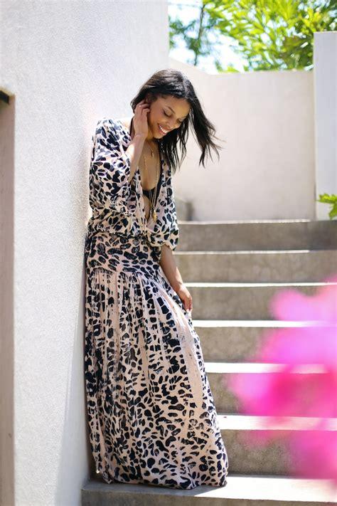 Dress Wanita Rica Maxi costa rica v printed maxi dress