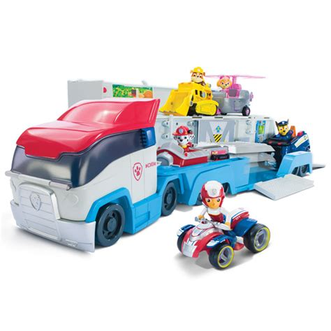 Truck Container Robocar Poli And Paw Patrol Termurah juguetes paw patrol conoce cami 211 n paw patroller