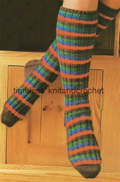 knitting pattern socks uk vintage knitting pattern for warm cosy long socks worked