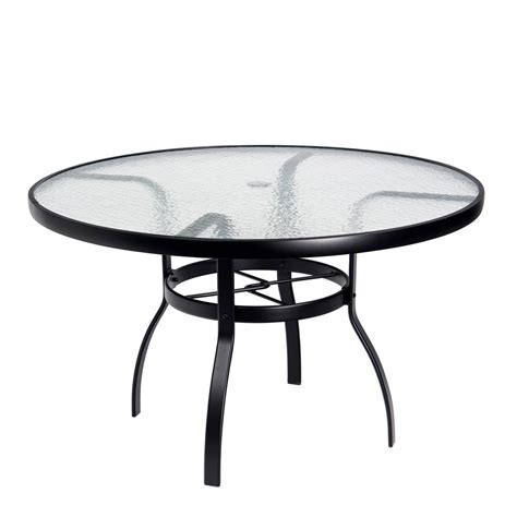 48 glass table top woodard deluxe 48 quot glass top dining table 826148w
