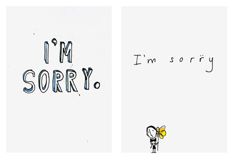 Apology Card Template Free card design ideas picture im sorry cards simple