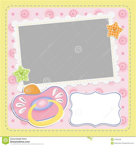 baby s card template template for baby s card royalty free stock image