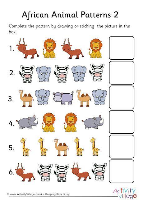 animal pattern worksheets for kindergarten pattern worksheets 187 pattern worksheets for pre k