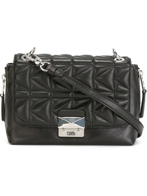 Quilted Crossbody Bags by Karl Lagerfeld Quilted Crossbody Bag In Black Lyst