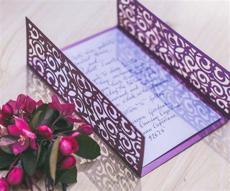 5x7 Wedding Invitations by Digital Template For Laser Cut Wedding Invitation