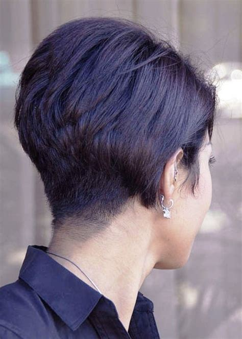 wedge haircut with stacked back short wedge hairstyles back view stacked bob haircut