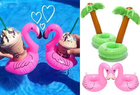 flamingo luchtbed xenos 2x opblaasbare bekerhouders nu voor slechts 4 95