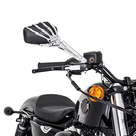 Motorrad Spiegel Chopper by Motorrad Chopper Spiegel Skeleton Hand Paar Schwarz