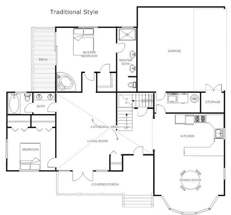 smart draw floor plans floor plans traditional floor plan exle smartdraw