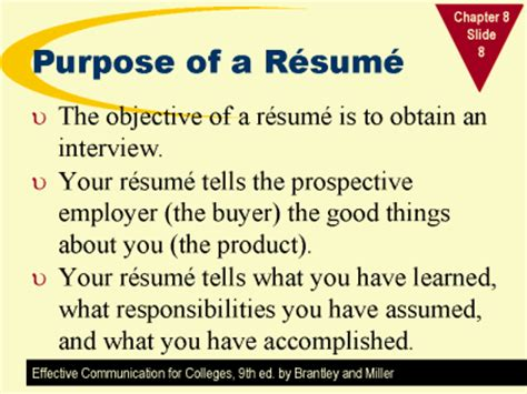 what is the purpose of a resume resume ideas