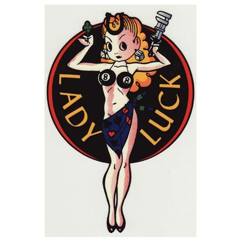 lady luck pin up tattoo designs luck ideas