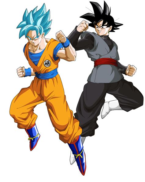 imagenes de goku luchando goku vs black goku by naironkr on deviantart