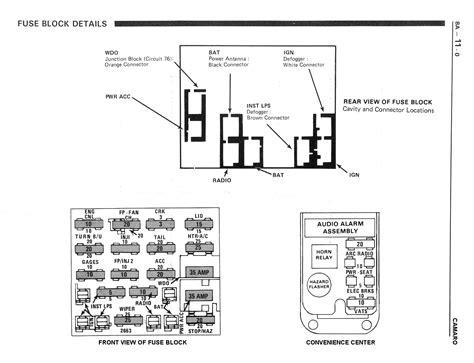 89 iroc fuse box 16 wiring diagram images wiring