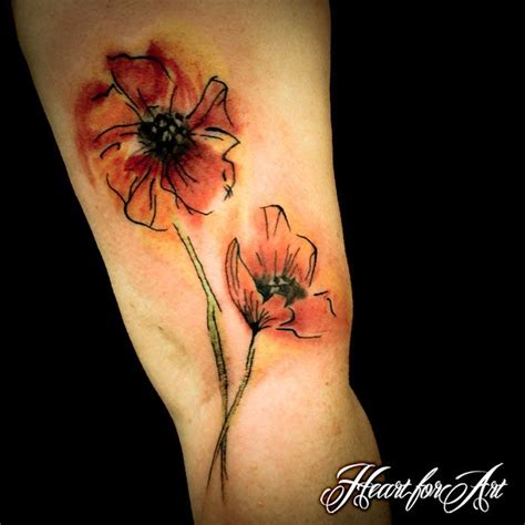 watercolor poppy tattoo 57 best violets images on