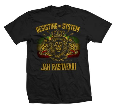 jersey design reggae rastaempire resisting the system black t shirt men s
