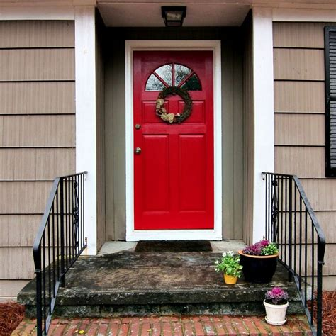 red door on house red front door to boost positive energy of your house
