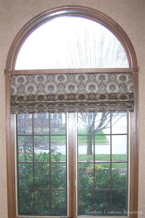 Curved Window Curtains Roman Shade In Arched Window Newton Custom Interiors