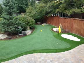 a putting green in backyard salt lake city backyard putting greens utah putting
