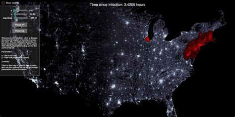 map of usa zombies apocalypse simulator proves that you should leave