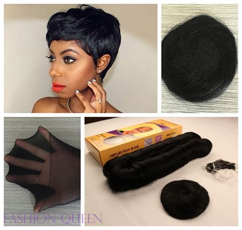 27 peice for african americans 6pcs 27 pieces short hair weave short bump hair extension