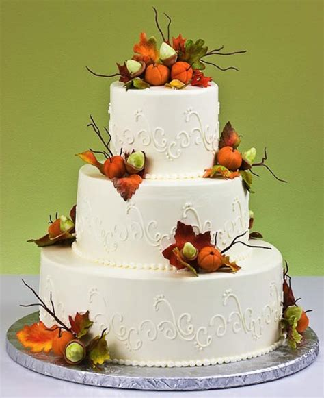 Fall Wedding Cakes by Fall Autumn Wedding Cake Designs