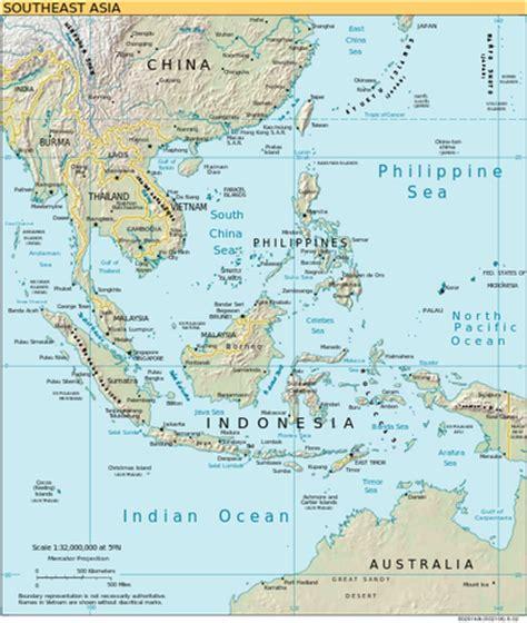 se asia physical map southeast asia seventh grade social studies