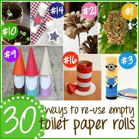 Things You Can Make With Toilet Paper Rolls - 30 great ways to re use empty toilet paper happy
