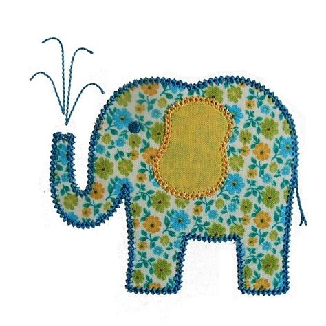 embroidery applique elina elephant machine embroidery applique design pattern in
