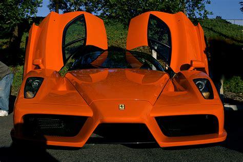 orange ferrari orange ferrari enzo