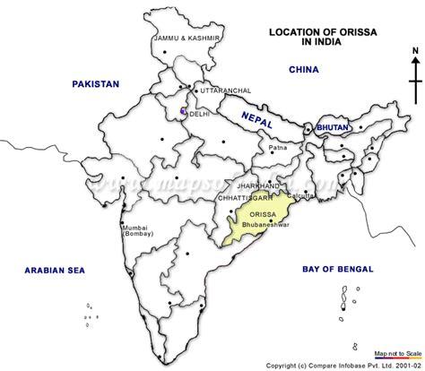 Odisha Map Outline by Orissa Odisha